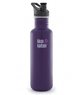 Klean Kanteen Stainless Steel Bottle - 800ml/27oz (Sports Cap)